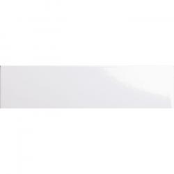 Carreau métro plat blanc brillant 10x30 cm - boite de 1.02m²