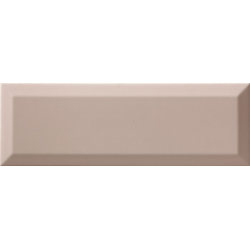 Carrelage métro biseauté 10x30 cm Limestone brillant - 1.02m² Ribesalbes