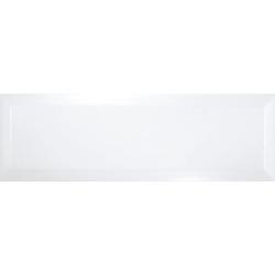 Carrelage Métro biseauté 10x30 cm blanc brillant - 1.02m²
