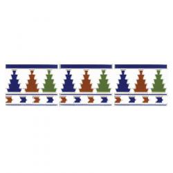 Azulejo Sevillano Frise Cenefa 1 15x20 cm - 0.9m² Ribesalbes