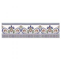 Azulejo Sevillano Frise Cenefa Granada 15x20 cm - 0.9m² Ribesalbes