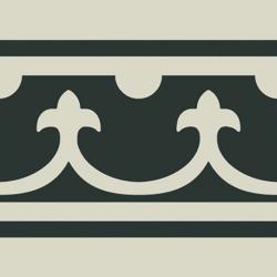Carrelage imitation ciment bordure décor blanc 20x20 cm PASION CENEFA BLANCO - unité