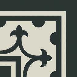 Carrelage imitation ciment coin décor noir 20x20 cm PASION ESQUINA NEGRO - unité