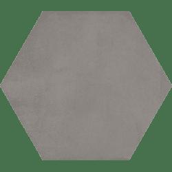 Carrelage hexagonal tomette décor anthracite 23x26.6cm BAMPTON GRAFITO - 0.50m² Vives Azulejos y Gres