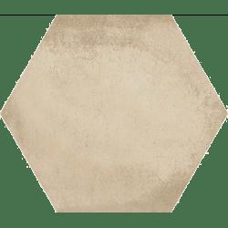 Carrelage hexagonal tomette décor crème 23x26.6cm BAMPTON BEIGE - 0.50m² Vives Azulejos y Gres