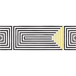 Carrelage graphique Art Déco 25x75 cm SASAK-7 BLACK - 1.331m²