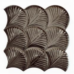 Carreau feuilles brillantes 30x30 SCALE SHELL ANTHRACITE - 0.75m²