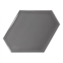 Carreau gris foncé brillant 10.8x12.4cm SCALE BENZENE DARK GREY - 23829 - 0.44m²