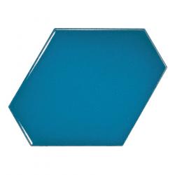 Carreau bleu électrique 10.8x12.4cm SCALE BENZENE ELECTRIC BLUE - 23834 - 0.44m²