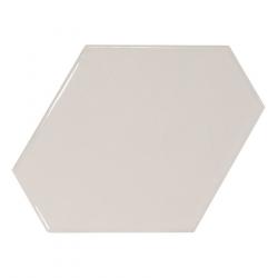 Carreau gris clair brillant 10.8x12.4cm SCALE BENZENE LIGHT GREY - 0.44m²