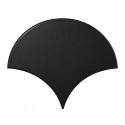Carreau noir mat 10.6x12cm SCALE FAN BLACK MATT 21976 - 0.37m² Equipe