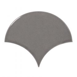 Carreau gris foncé brillant 10.6x12cm SCALE FAN DARK GREY - 0.37m² Equipe