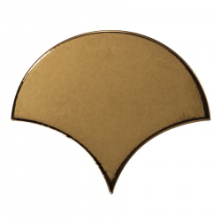 Carreau or métallisé 10.6x12cm SCALE FAN METALLIC 23842 - 0.37m²