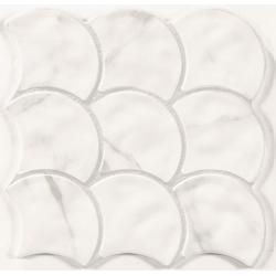 Carreau écaille marbré blanc gris 30x30 SCALE STATUARIO - 0.85m²