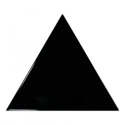 Carreau noir brillant 10.8x12.4cm SCALE TRIANGOLO BLACK - 0.20m²