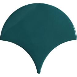 Carreau écaille bleu canard 12.7x6.2 SQUAMA EMERALD pour sol - 0.35m² Natucer
