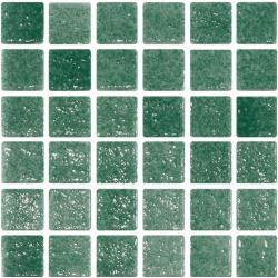 Mosaique verte 5x5 sur trame 30.7x30.7 REF.503 A-11 - 2 m²