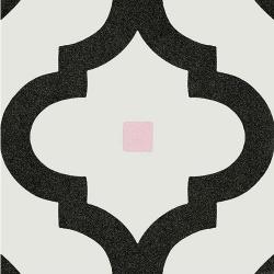 Carrelage scandinave noir points multicouleurs 20x20 cm LADAKHI Grafito - 1m²