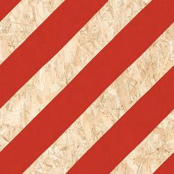 Carrelage imitation bois aggloméré NENETS Rouge 59.3X59.3 cm - 1.06 m²