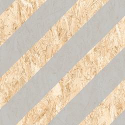 Carrelage imitation bois aggloméré NENETS Gris 59.3X59.3 cm - 1.06 m²