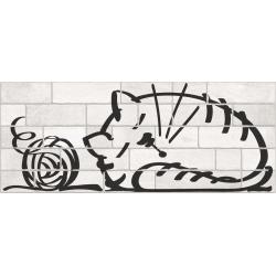 Parement mural briquettes original motif chat Marlon Nuney 20x50cm - 4 pièces