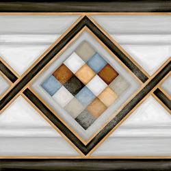 Carrelage imitation ciment bordure 20x20 cm POMBO-2 - 1m² Vives Azulejos y Gres