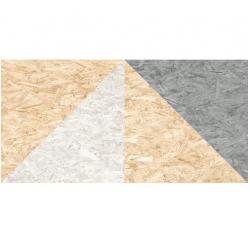 Carrelage rectifié imitation OSB bois aggloméré TELEGU-R Natural Multicolor 59.3X119.3 cm - 1.42 m²