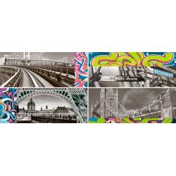 Faience murale enfant style graffiti ZOCLO BLOQUE 20x50cm - 4 unités Vives Azulejos y Gres