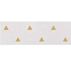 Faience murale blanche motif triangle or 32x99cm BARDOT-R Humo - 1