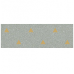 Faience murale verte motif triangle or 32x99cm BARDOT-R Mar - 1.27m²