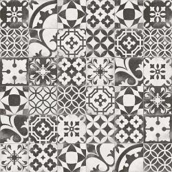 Carrelage en patchwork motif ancien 20x20 cm Berkane Negro - 1m² Vives Azulejos y Gres