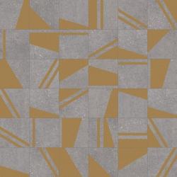 Carrelage motifs géométriques 20x20 cm Kokomo Grafito Or - 1m²