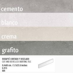 Plinthe intérieur vieillie RIFT 9.4x60 cm - 10.20mL Vives Azulejos y Gres
