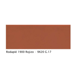 Plinthe intérieur vieillie 1900 9x20 cm ROUGE ROJIZO - 2mL