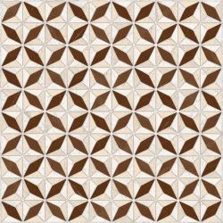 Carrelage imitation ciment géométrique 43x43 - Medix-Pr marron - 0.95m² Vives Azulejos y Gres