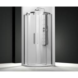 Parois de douche courbe 2 panneaux coulissants + 2 fixes - VT260