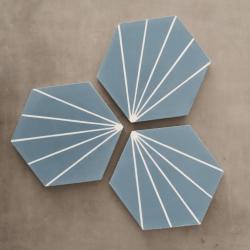 Carreau ciment en tomette dandelion 20x17cm - Ref.8500-12 - 0.307m² Carreaux ciment véritables