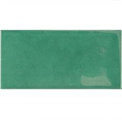 Faience effet zellige vert émeraude 6.5x13.2 VILLAGE ESMERALD GREEN 25584 - 0.5 m² Equipe