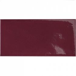 Faience effet zellige pourpre 6.5x13.2 VILLAGE AUBERGINE 25628 - 0.5 m² Equipe