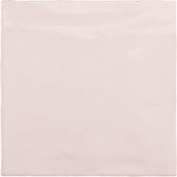 Faience nuancée effet zellige rose 13.2x13.2 RIVIERA ROSE 25853-1 m² Equipe