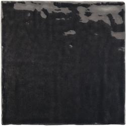 Faience nuancée effet zellige noir 13.2x13.2 RIVIERA TOURMALINE 25862- 1 m² Equipe
