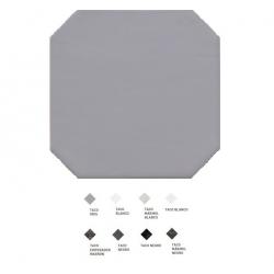 Carrelage octogonal à cabochons 20x20 OCTAGON GRIS 20555 - 1m²