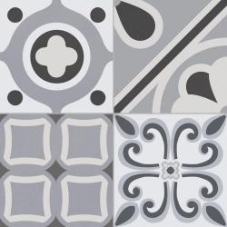 Carrelage style ciment grisé LUMIER BLACK 33x33 cm R9 - 1.32m²