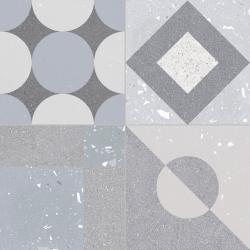 Carrelage style ciment terrazzo FUSION GREY 33x33 cm R9  - 1.32m²