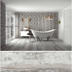 Carrelage imitation parquet vieilli ORIGEN GRIS - 20.2x66.2CM - R9 - 1.20 m²
