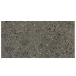 Carrelage anthracite imitation pierre 80x160cm HANNOVER BLACK NATURAL R10 - 1.28m²
