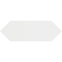 Faience navette crayon blanc brillant 10x30 PICKET WHITE - 1m² Ribesalbes