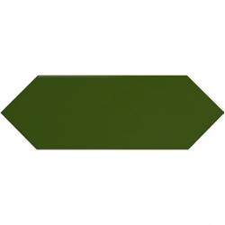 Faience navette crayon vert bouteille brillant 10x30 PICKET BOTTLE GREEN - 1m² Ribesalbes