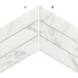 Carrelage losange blanc marbré 70x40 DIAMOND STATUARIO CHEVRON - 0.98m²