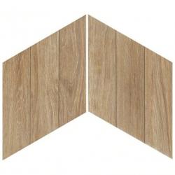 Carrelage losange style bois 70x40 DIAMOND TIMBER WALNUT CHEVRON - 0.98m²